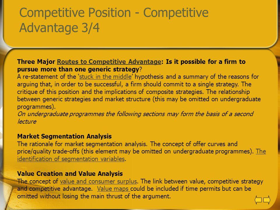 Competitive Position - Competitive Advantage 3/4