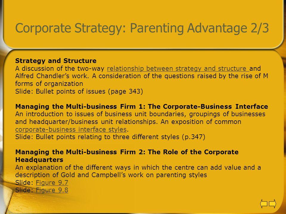 Corporate Strategy: Parenting Advantage 2/3