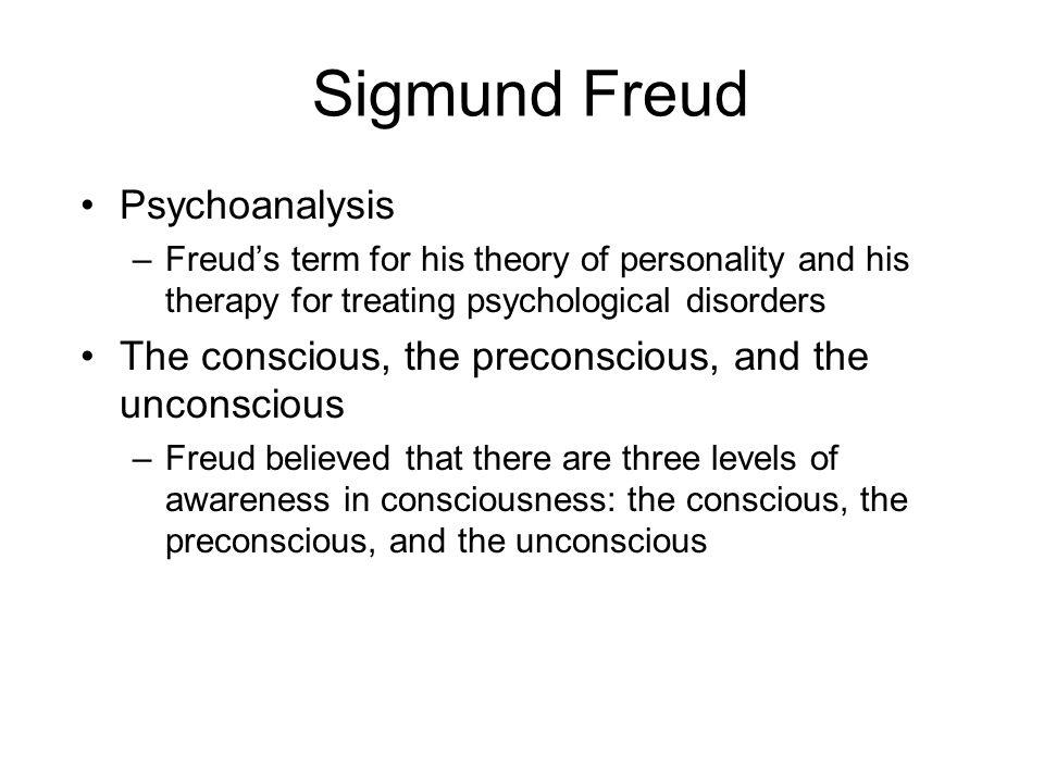 Sigmund Freud Psychoanalysis
