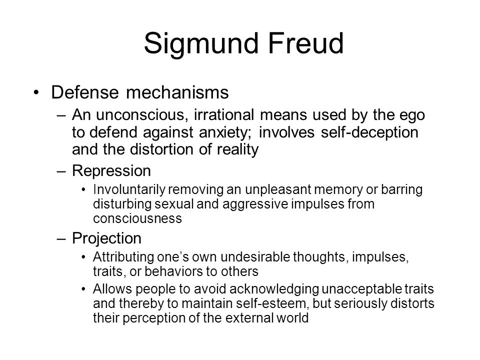 Sigmund Freud Defense mechanisms