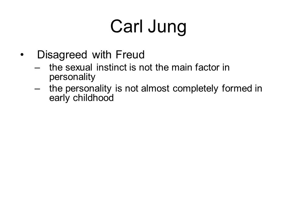 Carl Jung Disagreed with Freud