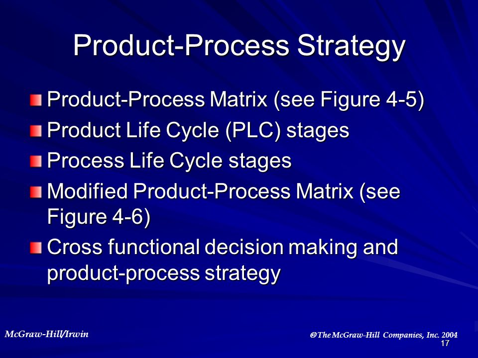 Product-Process Strategy