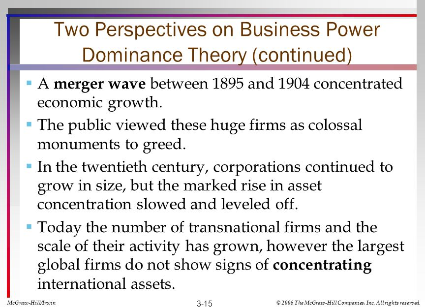Two Perspectives on Business Power Dominance Theory (continued)