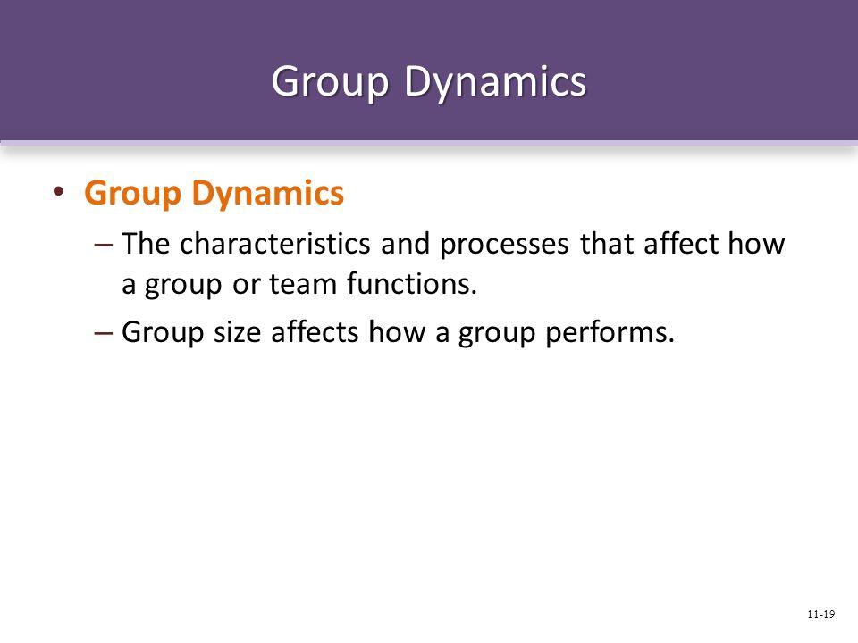 Group Dynamics Group Dynamics