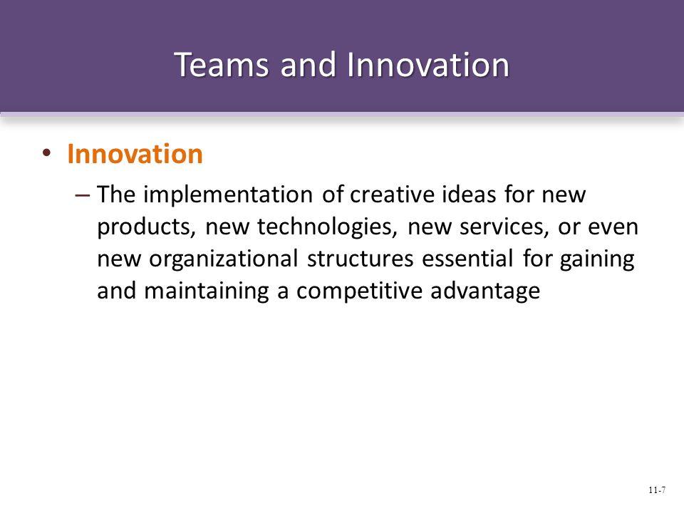 Teams and Innovation Innovation