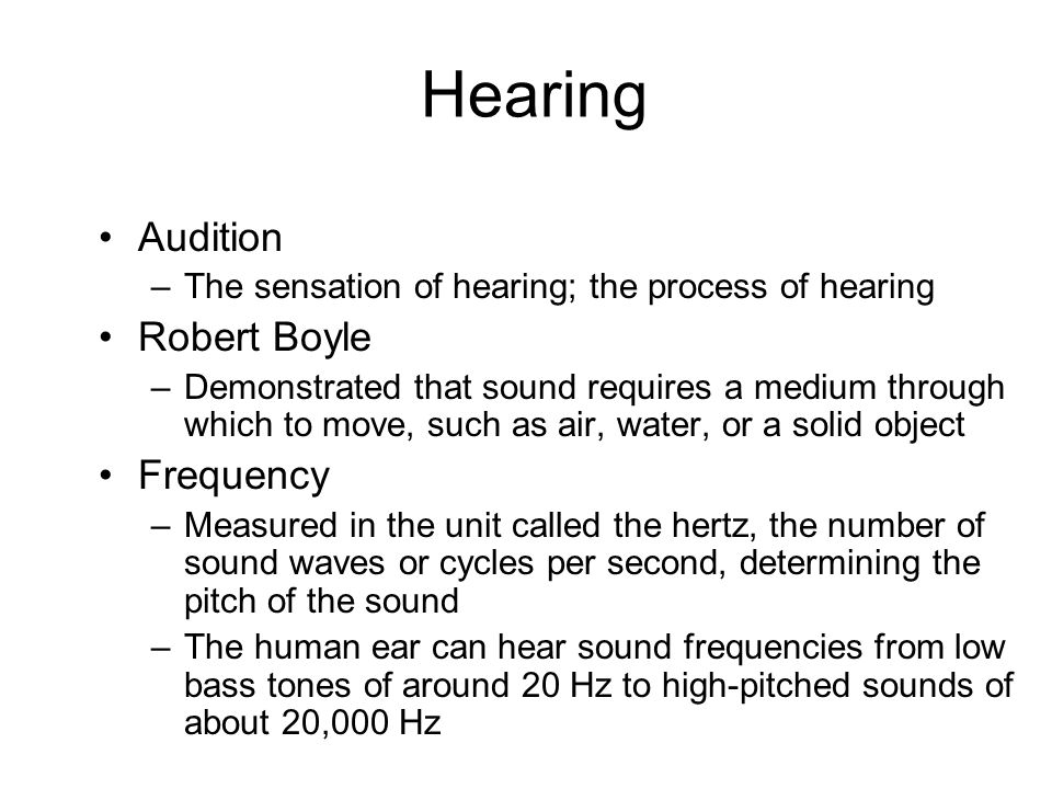 Hearing Audition Robert Boyle Frequency
