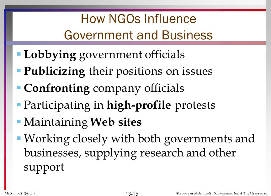 How NGOs Influence Government and Business