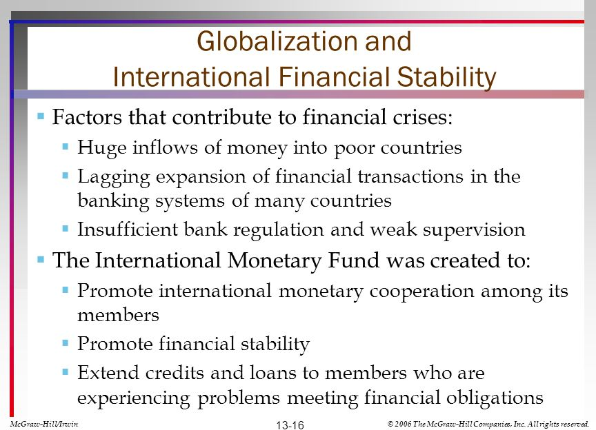 Globalization and International Financial Stability