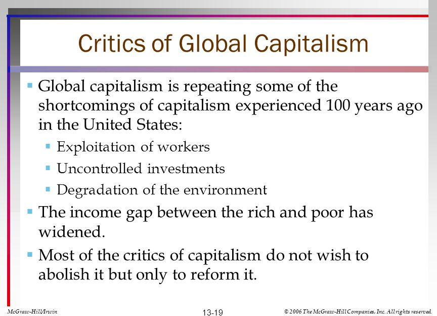 Critics of Global Capitalism