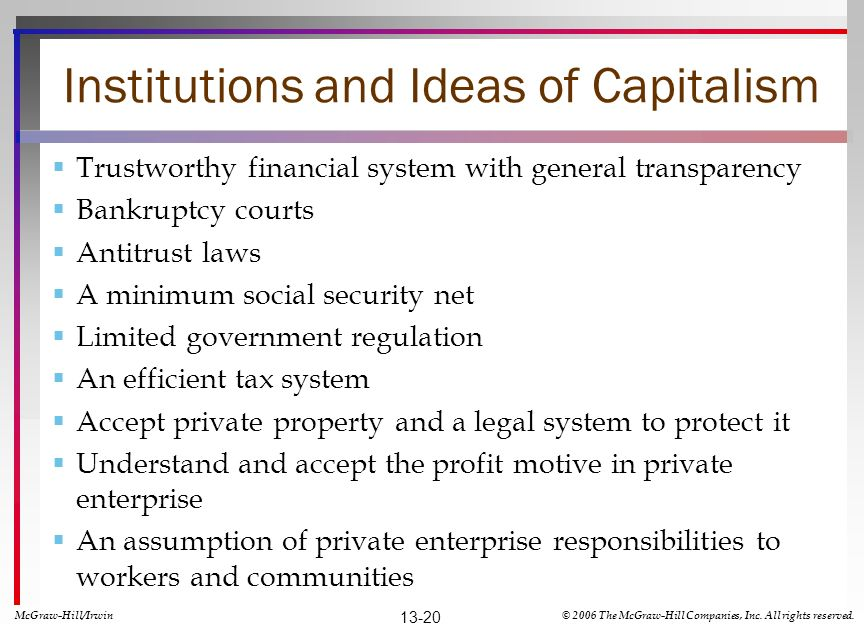 Institutions and Ideas of Capitalism