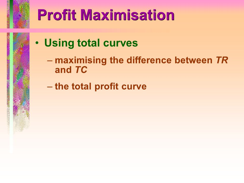 Profit Maximisation Using total curves