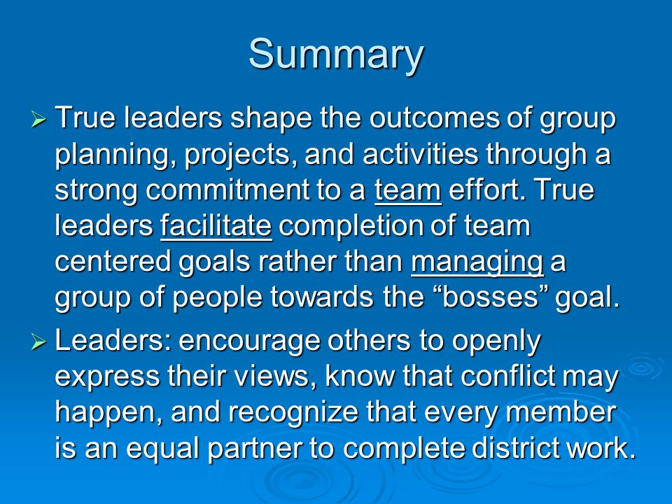 Group Leadership And Conflict SummaryAB