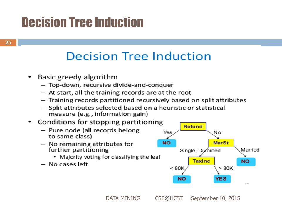 an explanation of the decision tree a standard tool in data mining Data mining with decision trees theory and are highly effective tools in other areas such as data mining, text mining, information extraction.