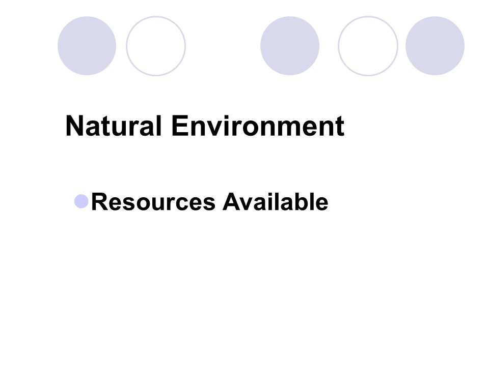 Natural Environment Resources Available