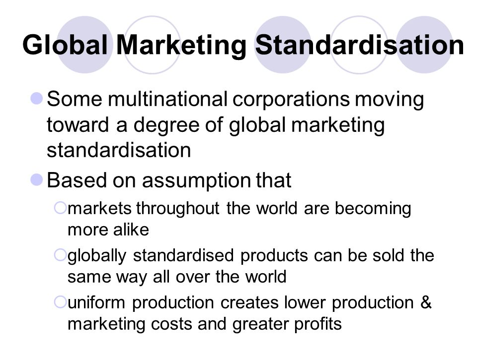 Global Marketing Standardisation
