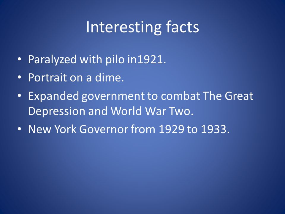 Interesting facts Paralyzed with pilo in1921. Portrait on a dime.