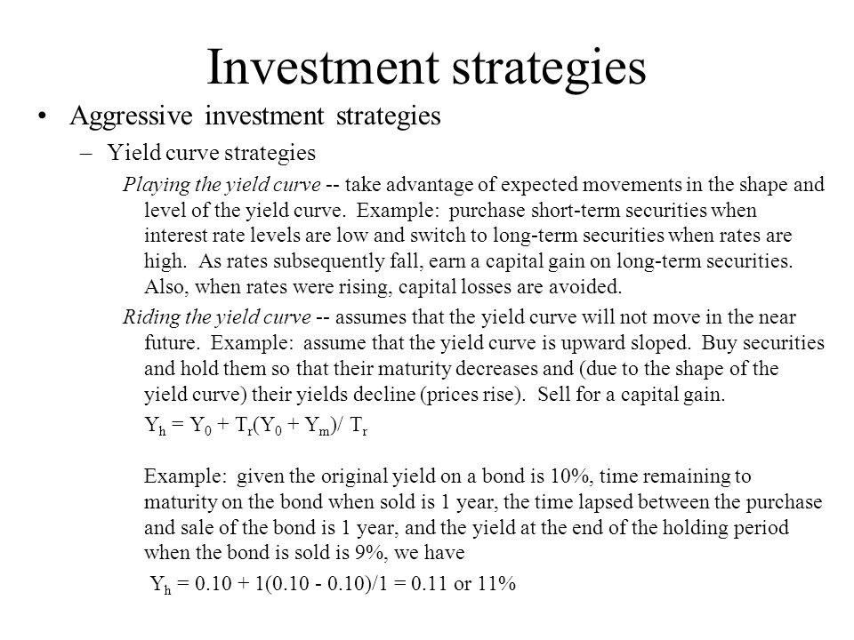 riding the yield curve example