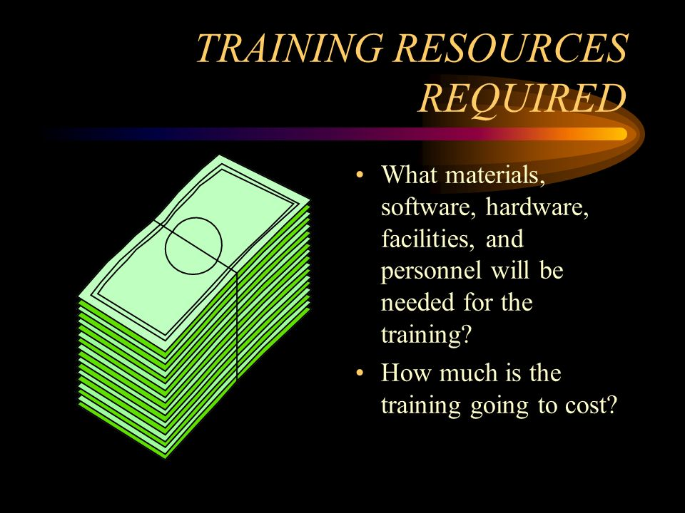 TRAINING RESOURCES REQUIRED