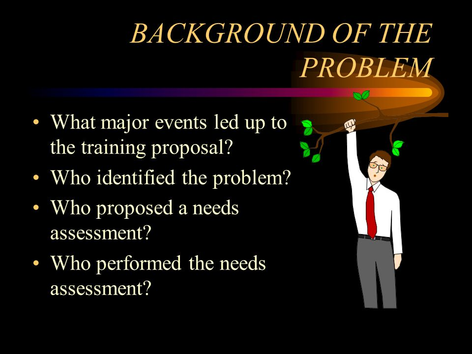 BACKGROUND OF THE PROBLEM