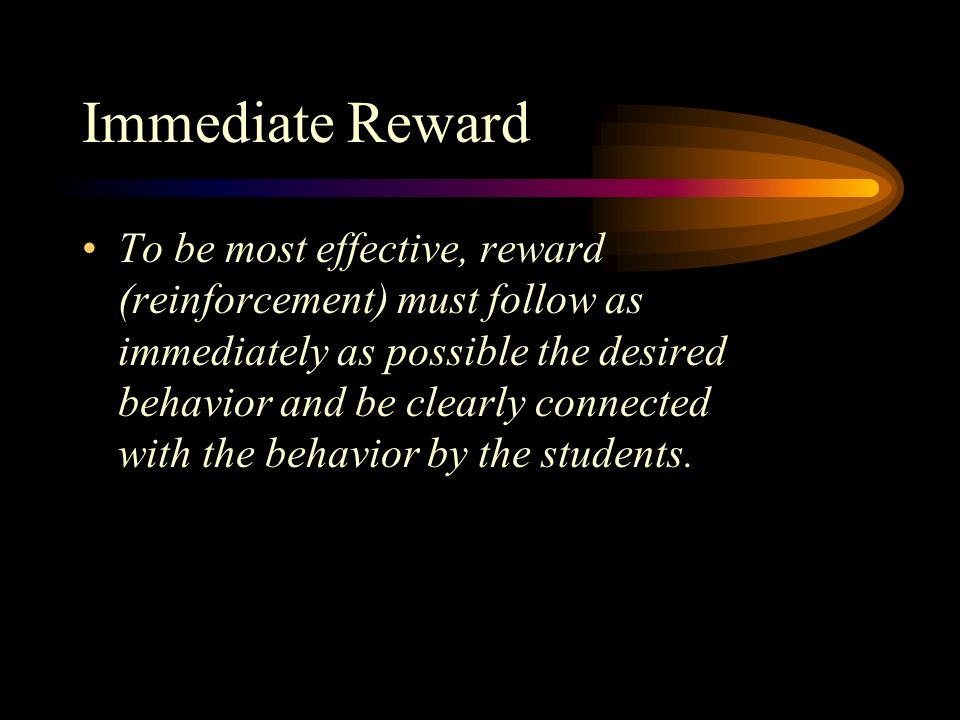Immediate Reward