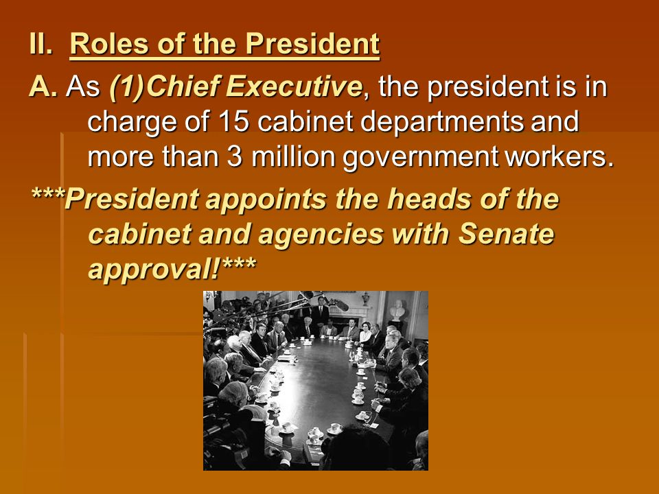 Chapter 7, Section 2 The President's Job - ppt download