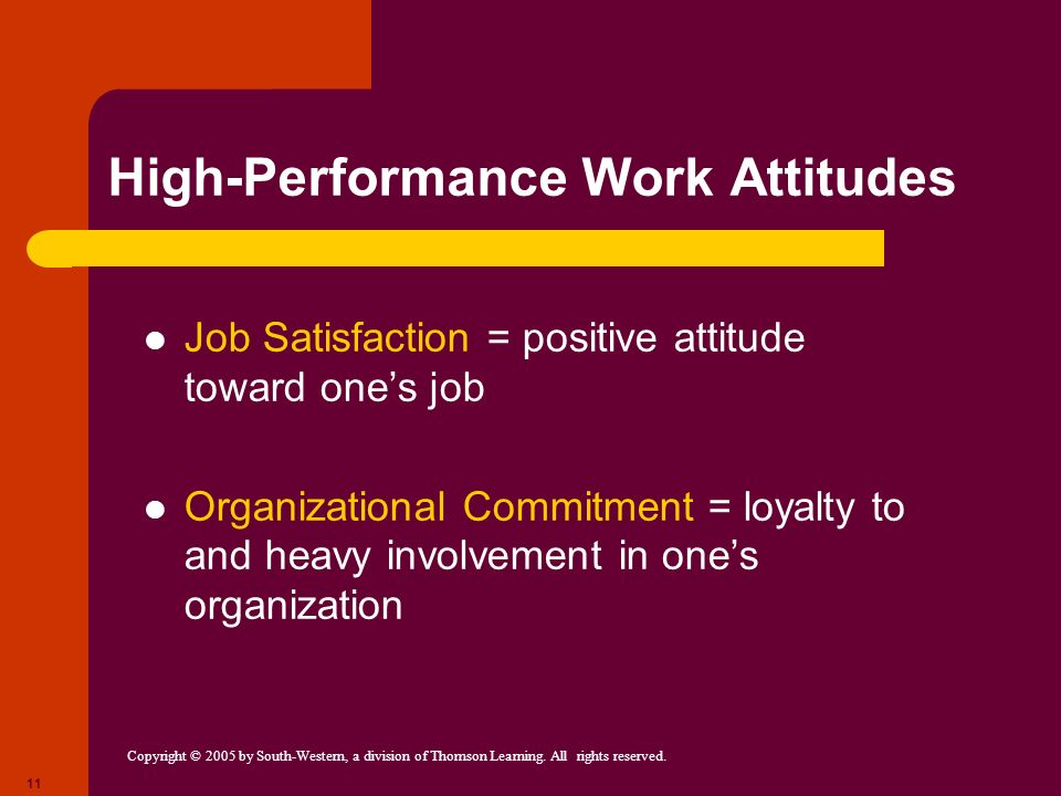 High-Performance Work Attitudes