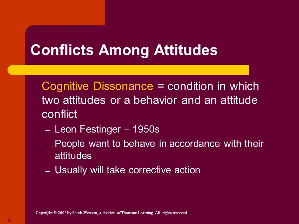 Conflicts Among Attitudes