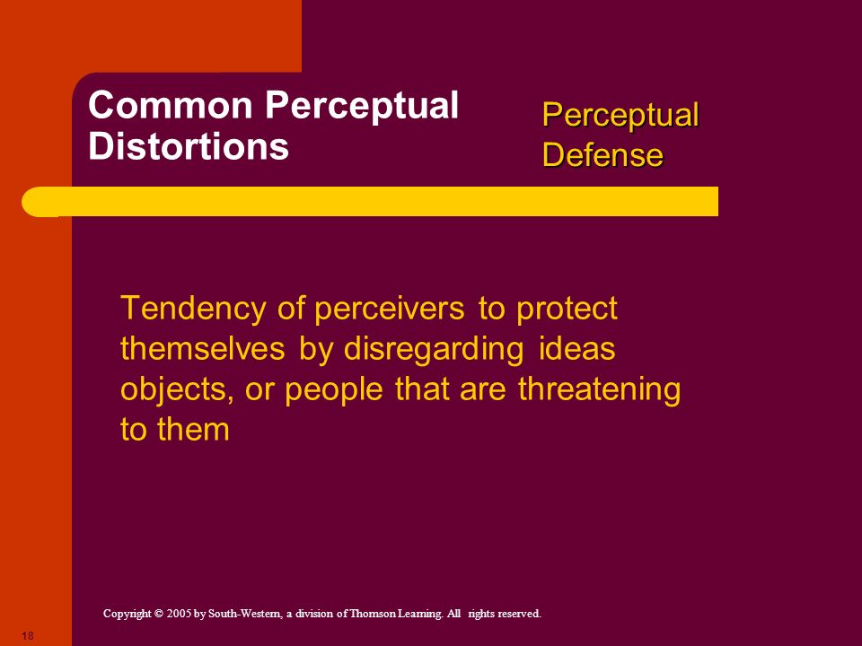 Common Perceptual Distortions