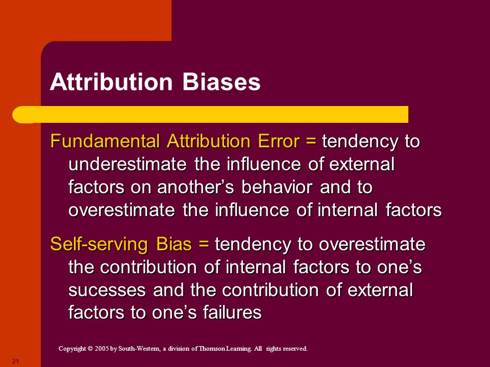 Attribution Biases