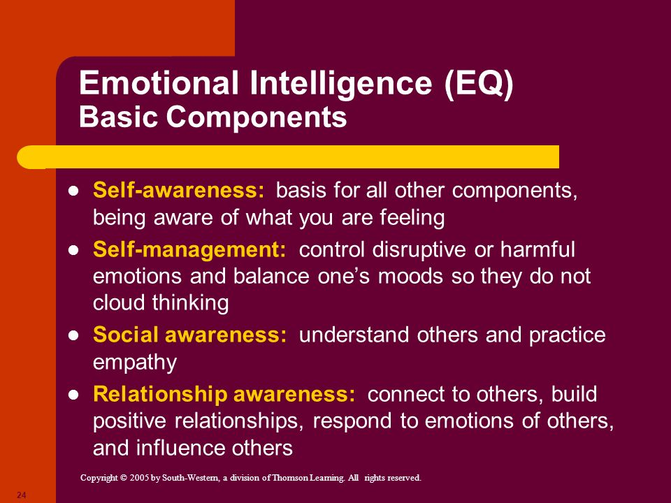Emotional Intelligence (EQ) Basic Components