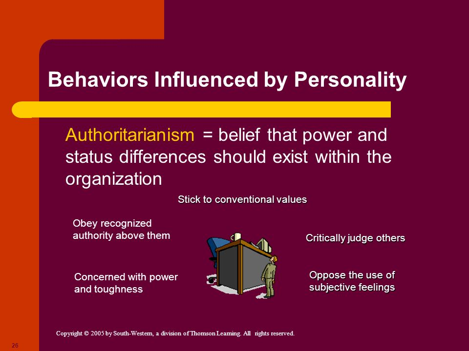 Behaviors Influenced by Personality