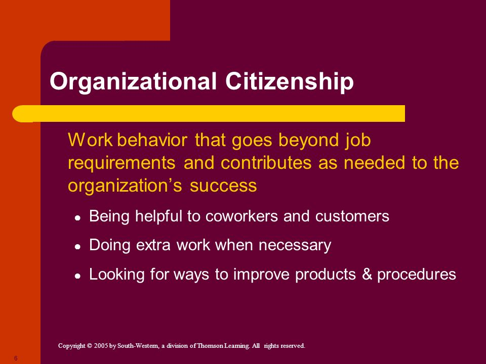 Organizational Citizenship