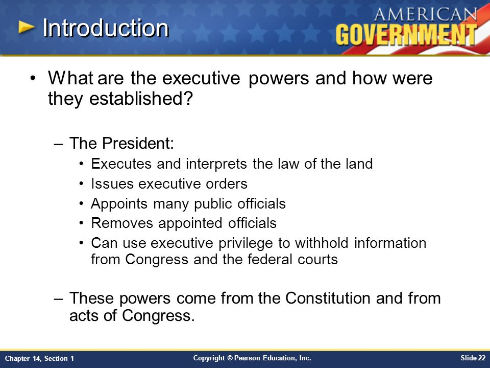 Chapter 14 the presidency in action section 1 ppt download - Define executive office of the president ...