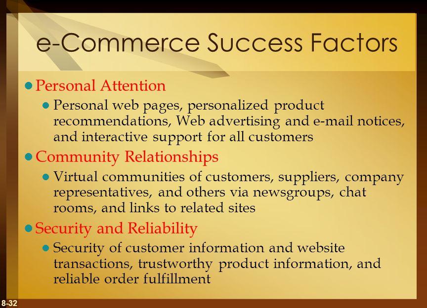 e-Commerce Success Factors