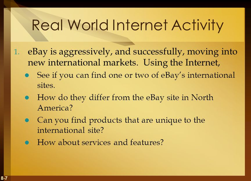 Real World Internet Activity