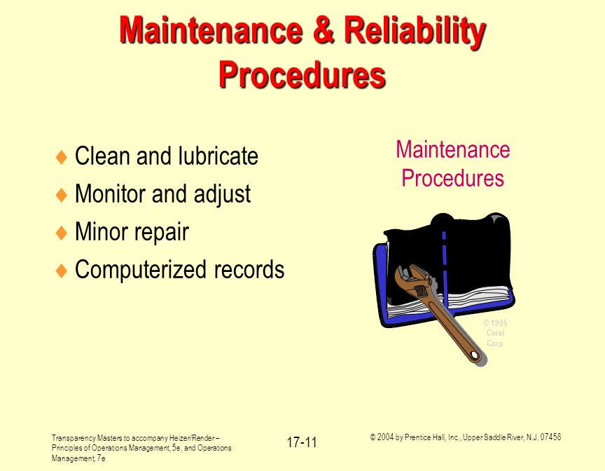 Maintenance & Reliability Procedures