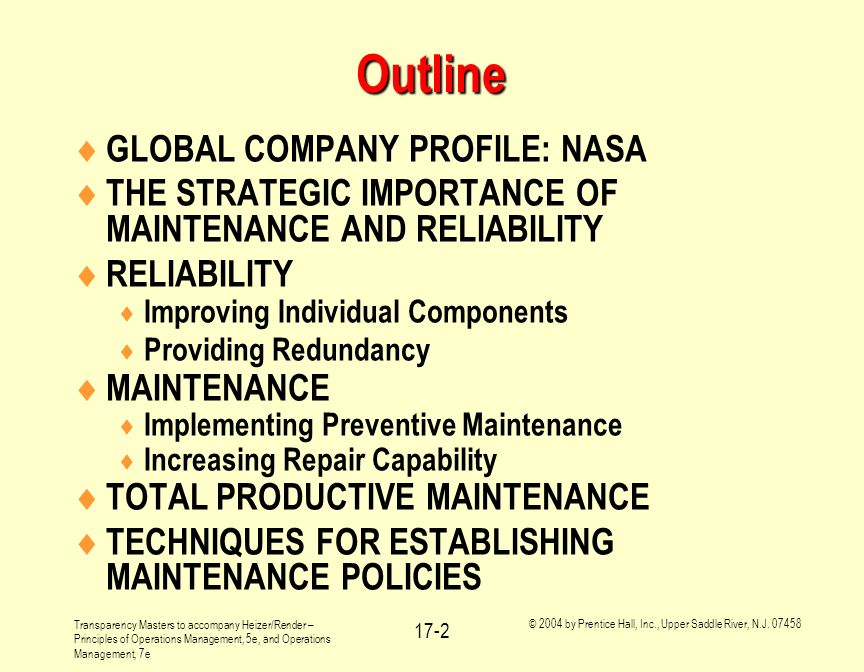 Outline GLOBAL COMPANY PROFILE: NASA