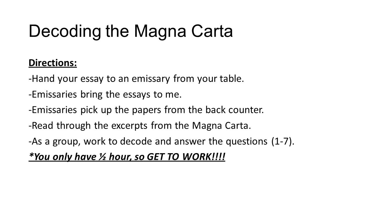 life in the american colonies ppt  decoding the magna carta
