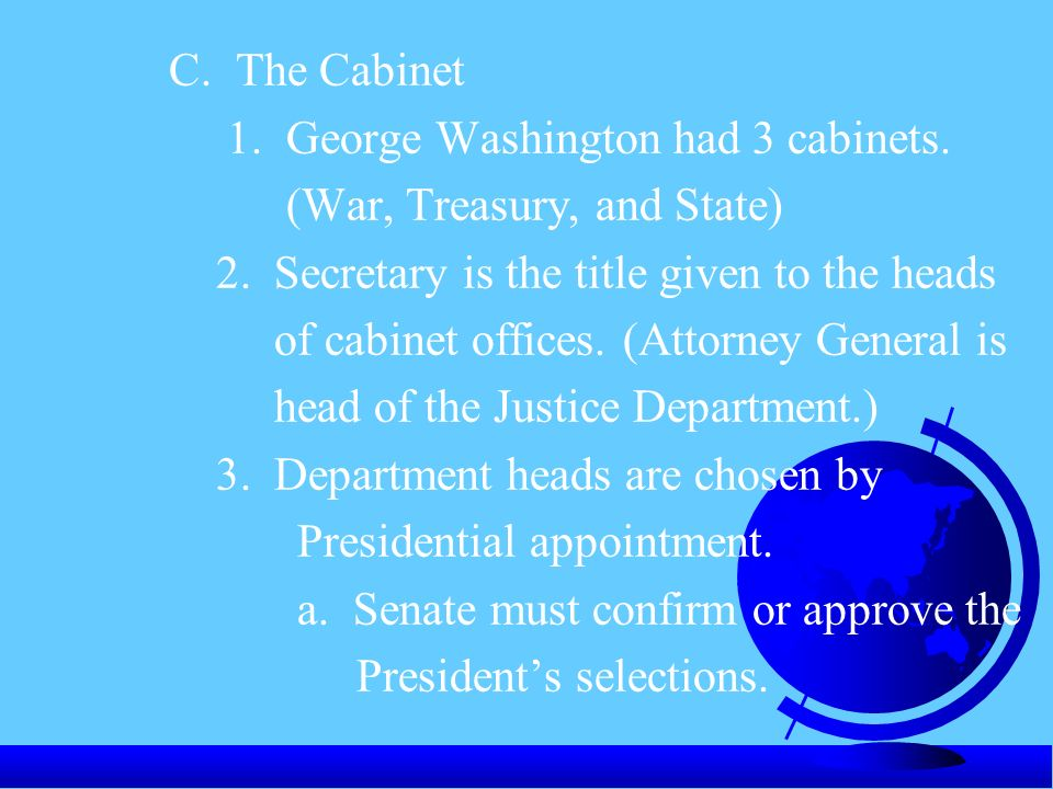 """CHAPTER 6 """"THE EXECUTIVE BRANCH"""" - ppt video online download"""