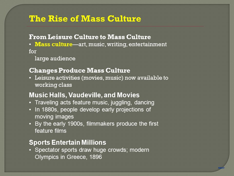The rise of the global leisure cultural