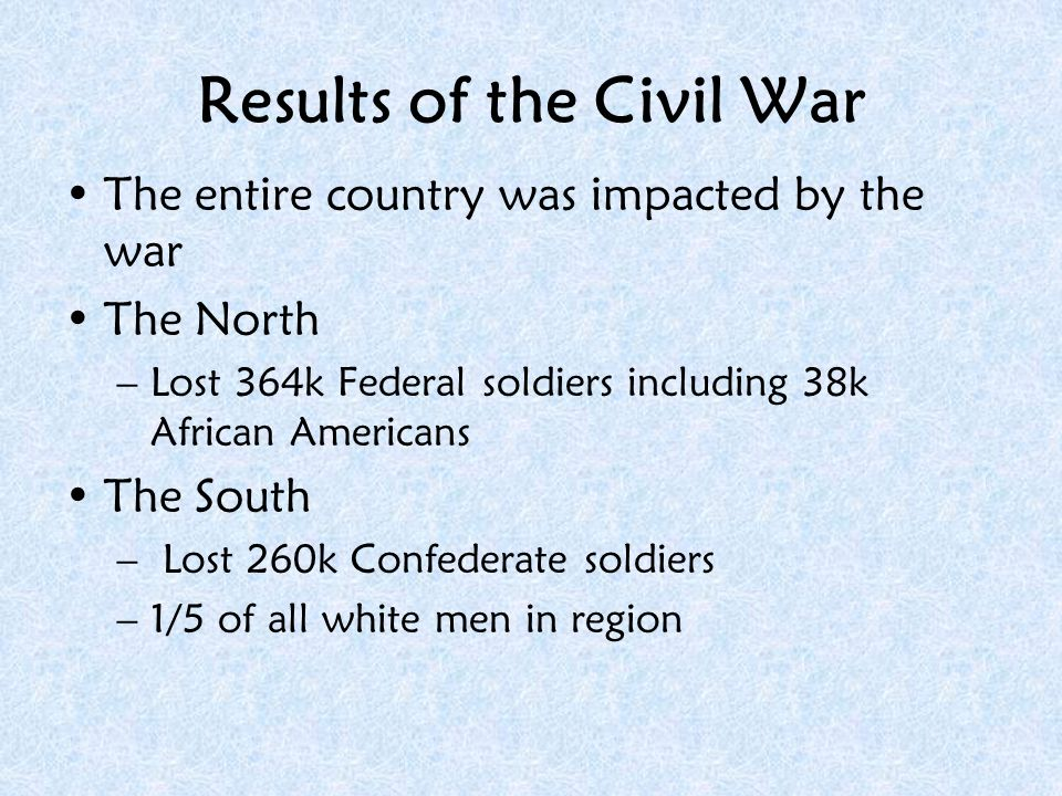 How did the South lose the Civil War but manage to win the peace? Use examples.Use examples!