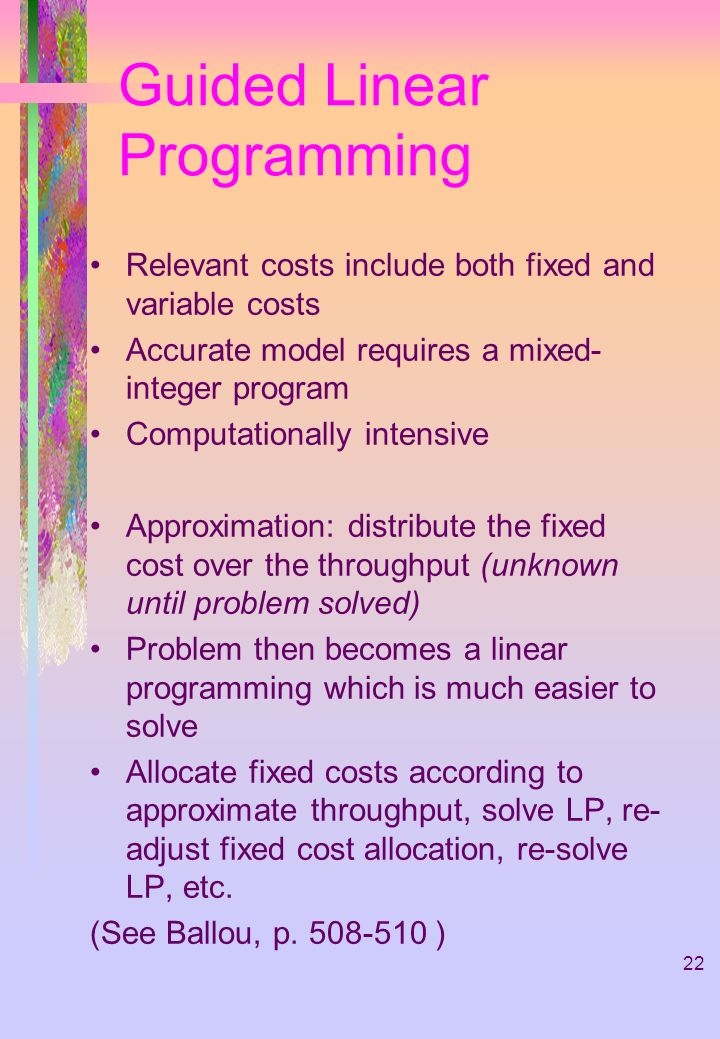 Guided Linear Programming