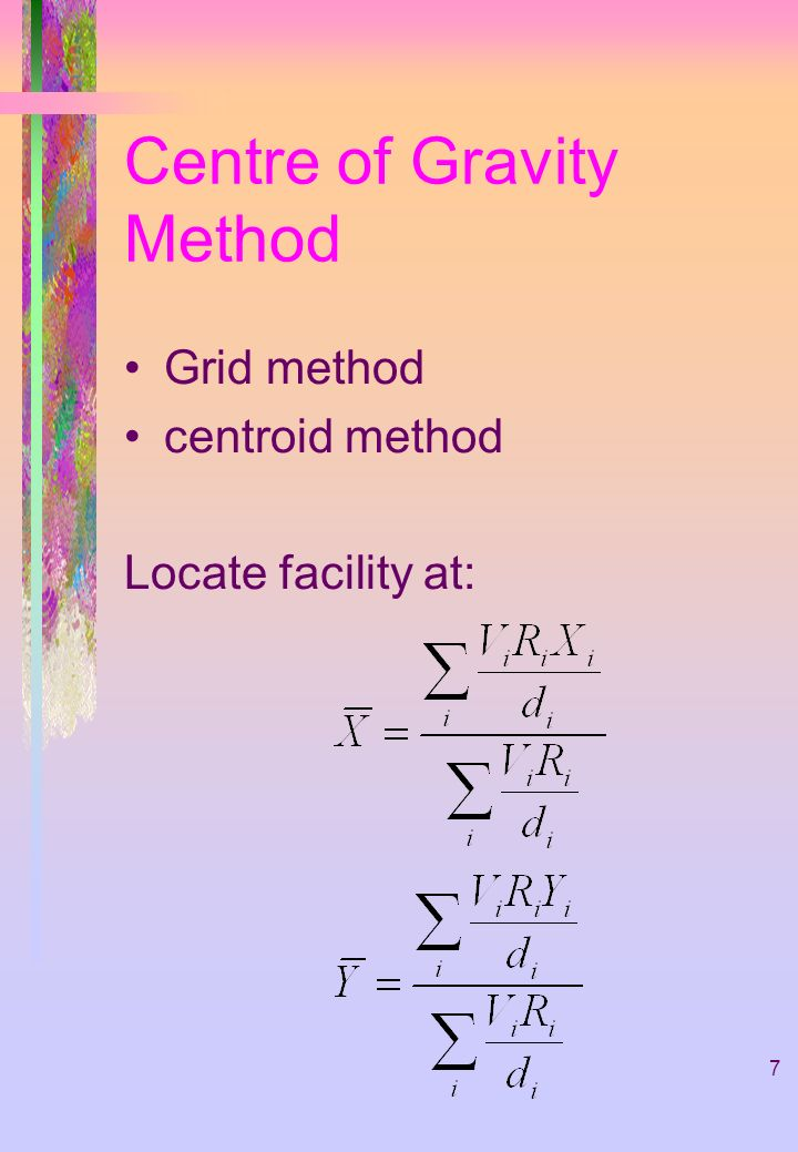 Centre of Gravity Method
