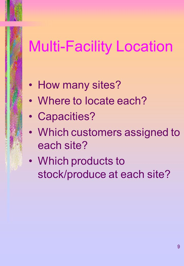 Multi-Facility Location