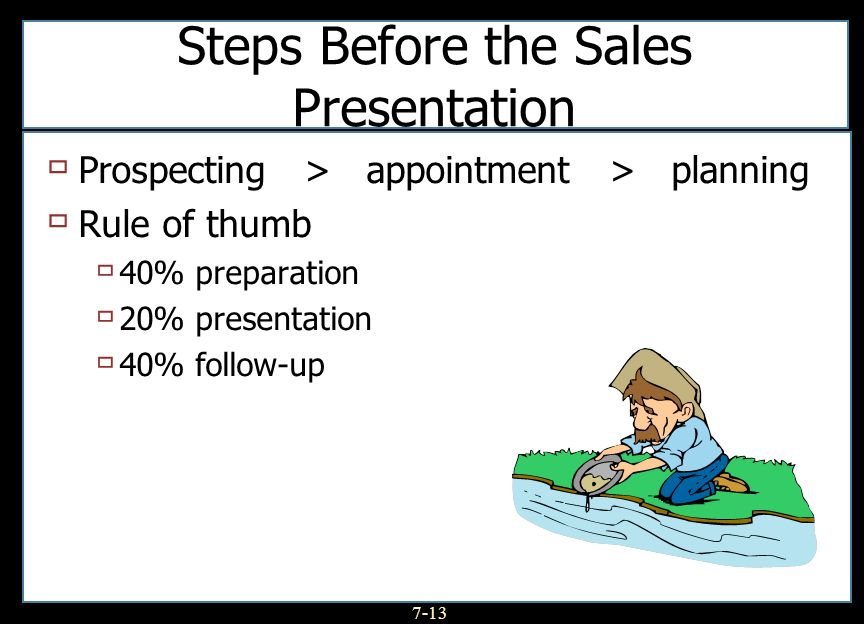 Steps Before the Sales Presentation