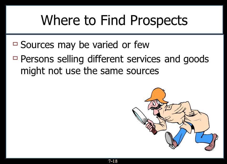 Where to Find Prospects