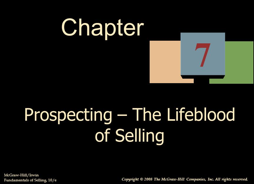Prospecting – The Lifeblood of Selling