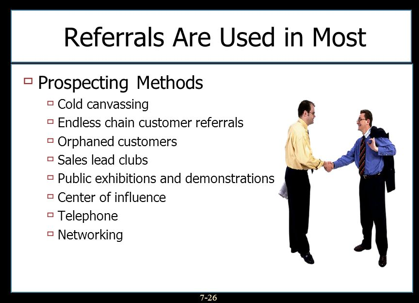 Referrals Are Used in Most