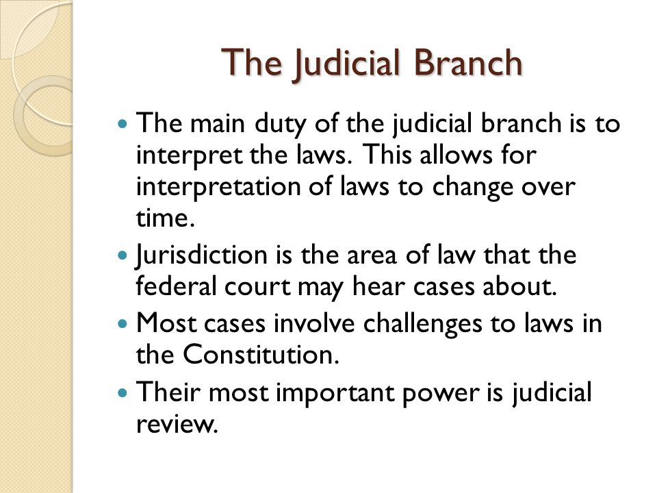 The importance of judicial review