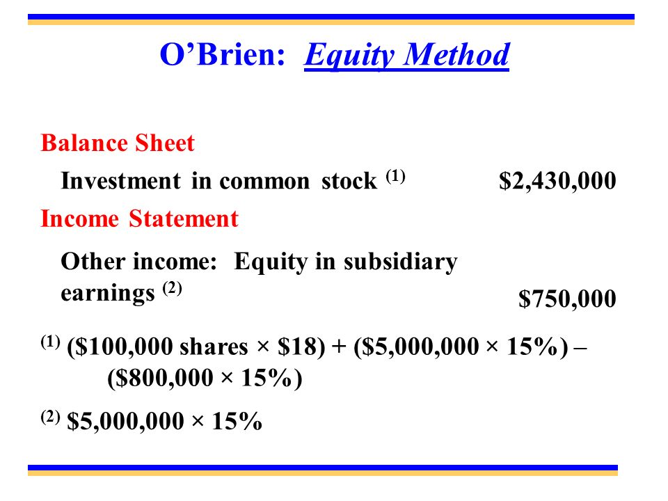 O'Brien: Equity Method